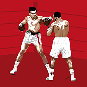 Boxing Digital Art - The Rivalry - Muhammad Ali vs Joe Frazier by Jarod