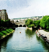 Pulteney Bridge Framed Prints - The River Avon Framed Print by Marilyn Wilson