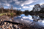 Culm Framed Prints - The River Culm at Five Fords Framed Print by Rob Hawkins