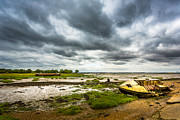 Wooden Ship Prints - The River Estuary. Print by Gary Gillette
