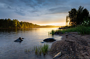 Midsummer Prints - The river Print by Jan Holthe