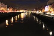 John Daly - The River Liffey at Night