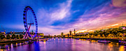 Westminster Palace Photos - The River Thames by Dawn OConnor