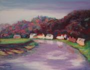 United Pastels - The River Wye at Tintern by Marion Derrett