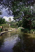 San Antonio River Walk Framed Prints - The Riverwalk Framed Print by Kieran Brimson