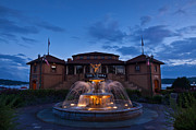 Fountain Photo Prints - The Riviera on Geneva Lake WI Print by Steve Gadomski