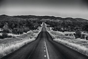 Towards Posters - The Road Ahead-Black and White Poster by Douglas Barnard
