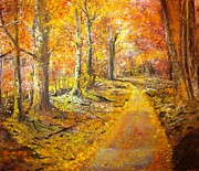 Autunno Framed Prints - The Road Framed Print by B Russo