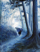 Nature Study Paintings - The Road Home by Donna Walsh
