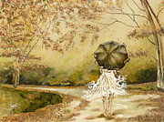 Umbrella Paintings - The road by Karina Llergo Salto