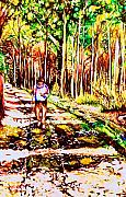 Laurentians Paintings - The Road Not Taken by Carole Spandau