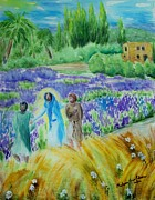 Jesus Painting Originals - The Road to Emmaus by Melanie Palmer