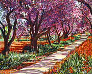 Pathways Painting Framed Prints - The Road to Giverny Framed Print by David Lloyd Glover