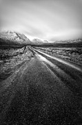Black And White. Mono. Monochromatic Posters - The road to glen etive Poster by John Farnan