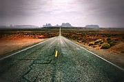 Brighams Framed Prints - The Road to Monument Valley Framed Print by Silvio Ligutti