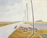 Flock Art - The Road to Nieuport by Willy Finch