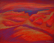 Featured Pastels - The Road to Redtop by Daniel Wend