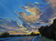 Sun Rays Painting Posters - The Road to Sunset Beach Poster by Michael Creese