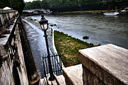 Francesco Zappala Metal Prints - The road to Tevere Metal Print by Francesco Zappala