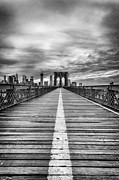 Brooklyn Bridge Art - The road to tomorrow by John Farnan