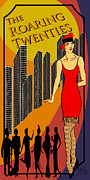M.j. Drawings Posters - The Roaring Twenties Poster by Troy Brown
