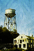 Alcatraz Painting Prints - The Rock Alcatraz Island 1 of 4 Print by Jani Bryson