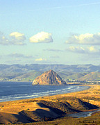 The Rock At Morro Bay Print by Barbara Snyder