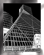 Cleveland Digital Art Framed Prints - The Rock Hall Cleveland Framed Print by Kenneth Krolikowski