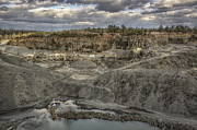 Bulldozers Framed Prints - The Rock Quarry Framed Print by Jason Politte