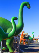 Dinosaurs Art - THE ROCK SHOP Just off Route 66 by Mike McGlothlen