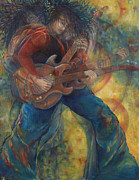 Electric Guitar Painting Originals - The Rocker by Anika Ferguson