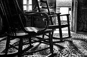 Rocking Chairs Metal Prints - The Rockers Metal Print by Julie Dant