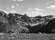 Lake 34 Posters - The Rockies Monochrome Poster by Barbara Bardzik