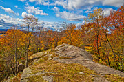 Fir Trees Photos - The Rocks Above Eagle Bay in the Adirondacks by David Patterson