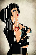 Typography Print Prints - The Rocky Horror Picture Show - Dr. Frank-N-Furter Print by Ayse T Werner