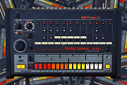 Old School House Digital Art Posters - The Roland TR-808 Rhythm Composer Drum Machine Poster by Gordon Dean II
