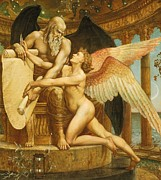 Fame Painting Posters - The Roll of Fate Poster by Walter Crane