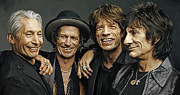 The Rolling Stones Artwork 1 Print by Sheraz A