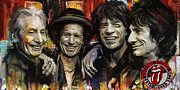 The Rolling Stones Print by Corporate Art Task Force