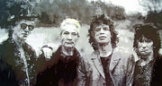 Mick Jagger And Keith Richards Art - The Rolling Stones by Daniel Hagerman