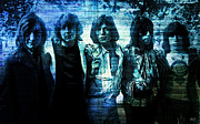 Rolling Stones Posters - The Rolling Stones - In Blue Poster by Absinthe Art By Michelle LeAnn Scott