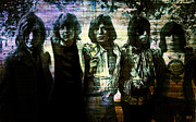 Rock N Roll Digital Art - The Rolling Stones - In Purple Sepia by Absinthe Art  By Michelle Scott