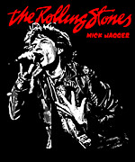 Black Digital Art - The Rolling Stones No01 by Caio Caldas