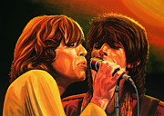 Keith Richards Painting Posters - The Rolling Stones Poster by Paul  Meijering