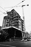 Hi-rise Framed Prints - the rolston new condo project granville street Vancouver BC Canada Framed Print by Joe Fox