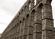 True Cross Posters - The Roman Aqueduct of Segovia Poster by Lorraine Devon Wilke