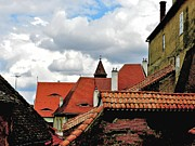 Transilvania Metal Prints - The Roofs of Sibiu in Transylvania Metal Print by Ion vincent DAnu