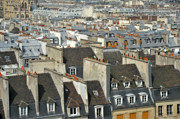 Photoart Pyrography Prints - The Rooftops of Paris Print by Karin Neate
