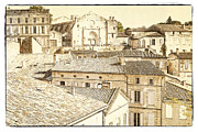 Cobblestone Prints - The Rooftops of Saint-Emilion Print by Heiko Koehrer-Wagner