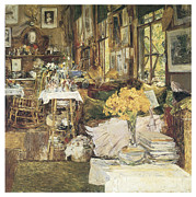 Impressionism Acrylic Prints - The Room of Flowers Acrylic Print by Childe Hassam